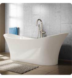 This Evita Solid Surface Freestanding Oval Soaker Bathtub is one of the most exclusive bathtub and it truly is the shark of freestanding tubs. Finish your bathroom with the modern touch of the Evita bathtub and immerse yourself in total Zen relaxation. This bathtub is made of solid surface resin, features an easy freestanding installation and comes complete with leveling pads and central drain. Unwind and laze on the symmetrical backrests and let the worries of the day drift away as you lounge peacefully in the Evita tub. Relax and slowly slip into this beautiful tub at the end of a stressful day and it's also a great piece of art and is sure to be the focal point of your bathroom. <ul> <li>Solid Surface Resin construction</li> <li>Freestanding installation</li> <li>Oval shaped bathtub</li> <li>Classic and contemporary look</li> <li>Drain and overflow kit included</li> <li>Center drain placement</li> <li>Water Capacity: 69 Gallons</li> <li>Double slipper design</li> <li>Symmetrical ba