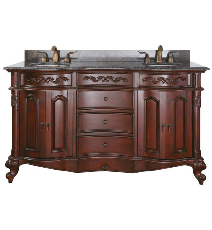 Avanity provence v60 ac provence 60 cherry antique double for Decorplanet bathroom vanities