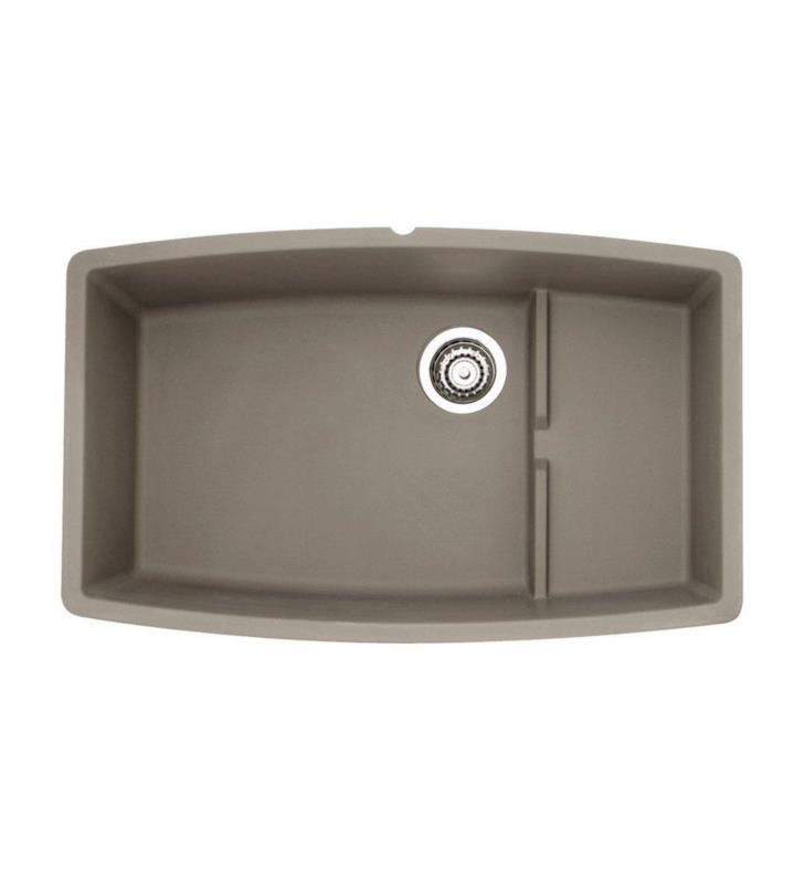 blanco 441291 performa 32 cascade single bowl undermount silgranit kitchen sink in truffle. Black Bedroom Furniture Sets. Home Design Ideas