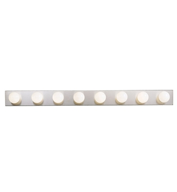 Kichler 628NI 8-Bulb Bathroom Strip Light in Brushed Nickel