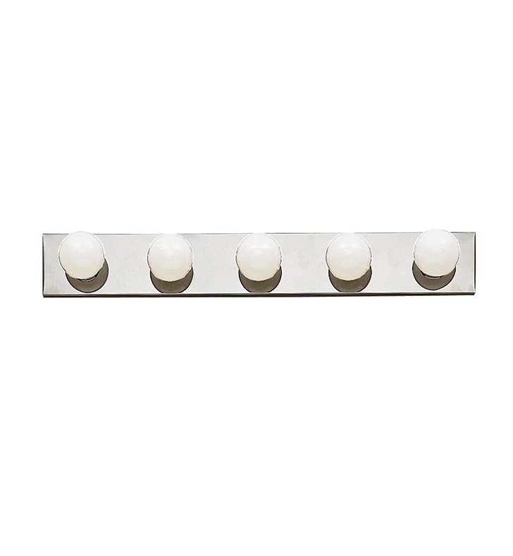 Kichler 625NI 5-Bulb Bathroom Strip Light With Finish: Brushed Nickel