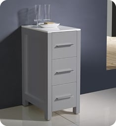 "Fresca FST6212GR Torino 12"" Grey Bathroom Linen Side Cabinet"