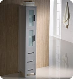 Fresca FST6260GR Torino Grey Tall Bathroom Linen Side Cabinet