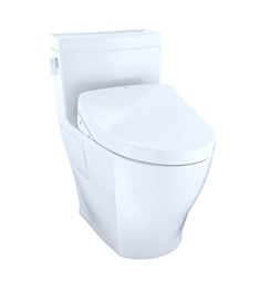 TOTO CST624CEFGT40#01 Legato One-Piece Elongated Bowl with 1.28 GPF Single Flush in Cotton White