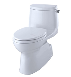 TOTO MS614114CUFRG#01 Carlyle II 1G One-Piece Elongated Bowl with SoftClose Seat and 1.0 GPF Single Flush and Right Hand Trip Lever in Cotton White