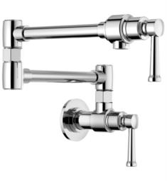 "Brizo 62825LF Artesso 6 1/2"" Double Handle Wall Mount Pot Filler Kitchen Faucet"