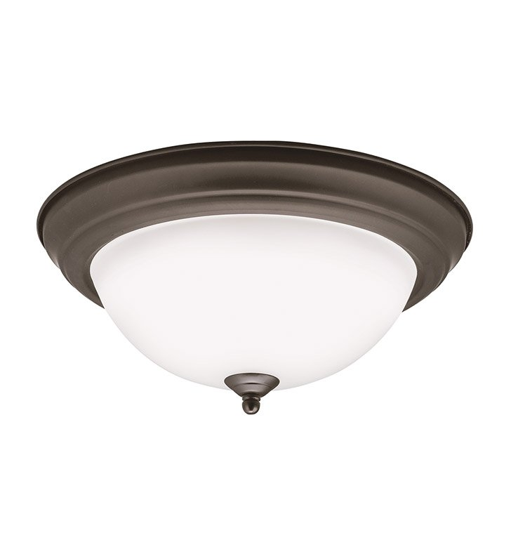 Kichler 8112OZLED Flush Mount in Olde Bronze
