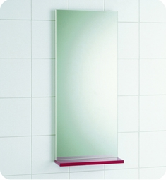 "Decotec 114522.1 Sucre 13 3/4"" Frameless Rectangular Bathroom Mirror with Lacquer Shelf"