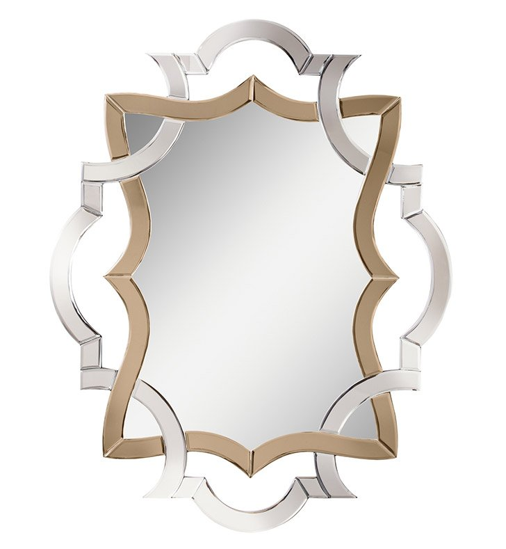 Kichler 78139 Oval Wall Mirror with Wood Frame from the Lydia Collection