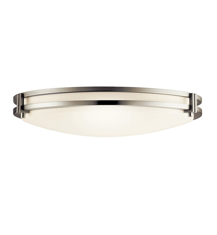 Kichler 10827NI Flush Mount 2 Light Fluorescent in Brushed Nickel