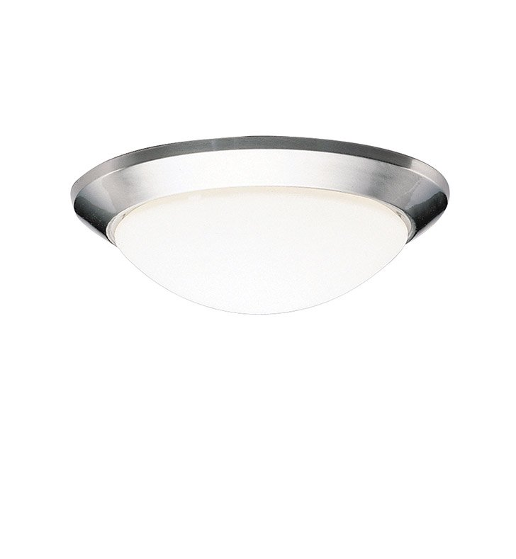 Kichler 8881NI 1-Bulb Flush Mount Light in Brushed Nickel Finish from the Ceiling Space Collection