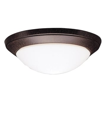 Kichler 8881TZ Ceiling Space Collection Flush Mount 1 Light in Tannery Bronze