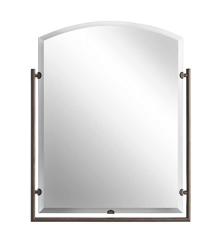 Kichler 41056OZ Olde Bronze Modern Arched Mirror from the Structures Collection