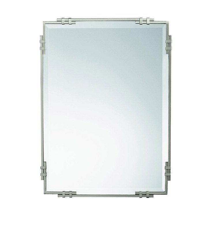 Kichler 41046NI Brushed Nickel Transitional Rectangular Mirror from the Silverton Collection