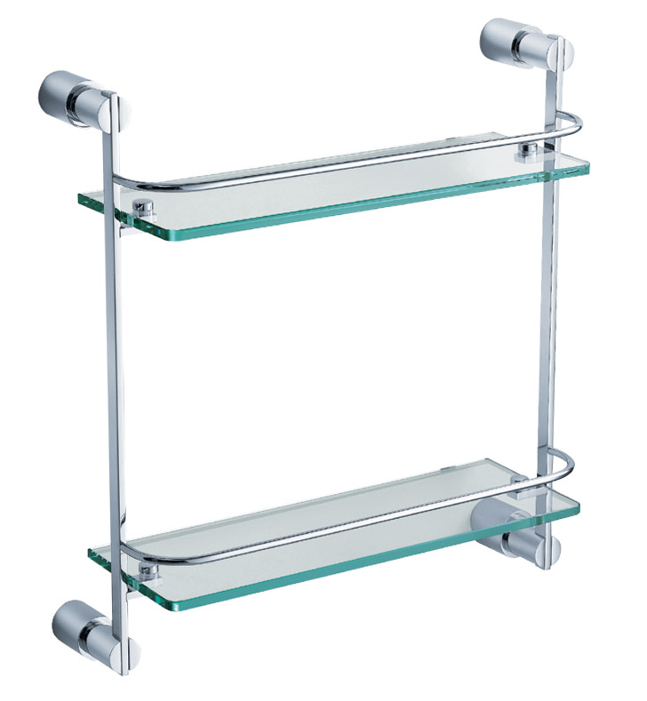 Fresca FAC0146 Magnifico 2 Tier Glass Shelf in Chrome
