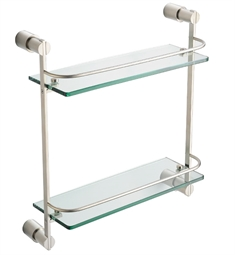 Fresca FAC0146BN Magnifico 2 Tier Glass Shelf in Brushed Nickel