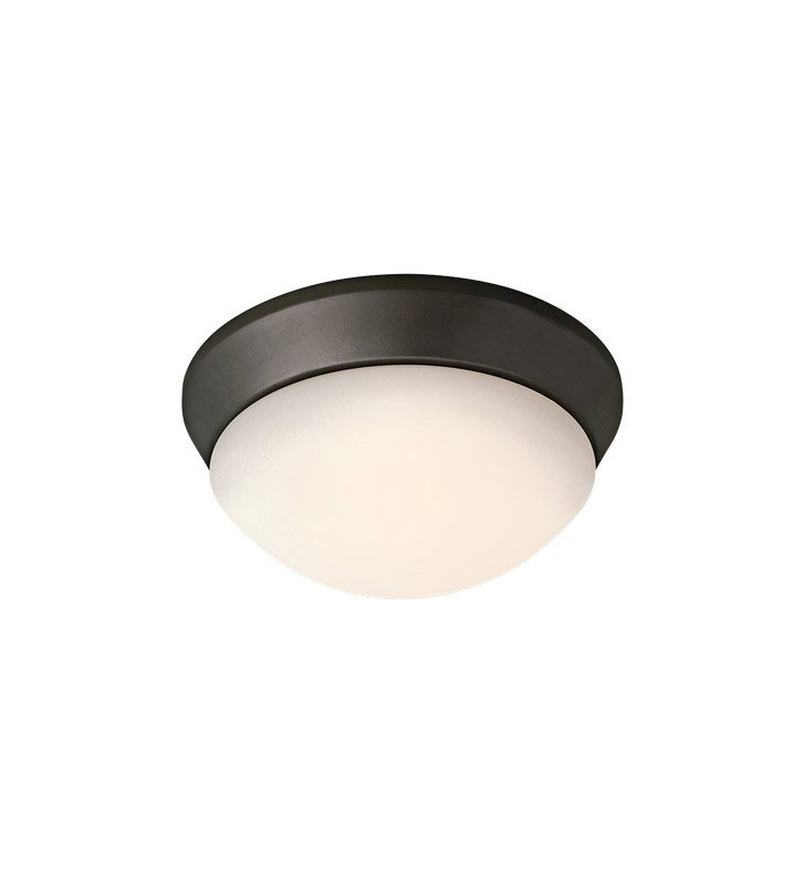 Kichler 8880OZFL Ceiling Space Collection Flush Mount 1 Light Fluorescent in Olde Bronze