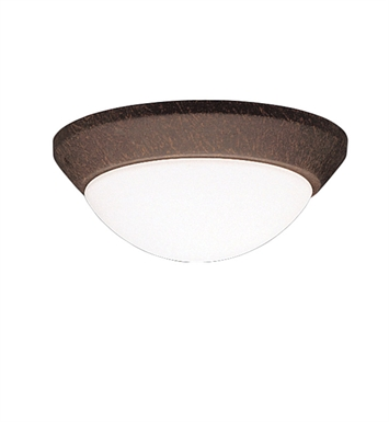 Kichler 8880TZ Ceiling Space Collection Flush Mount 1 Light in Tannery Bronze