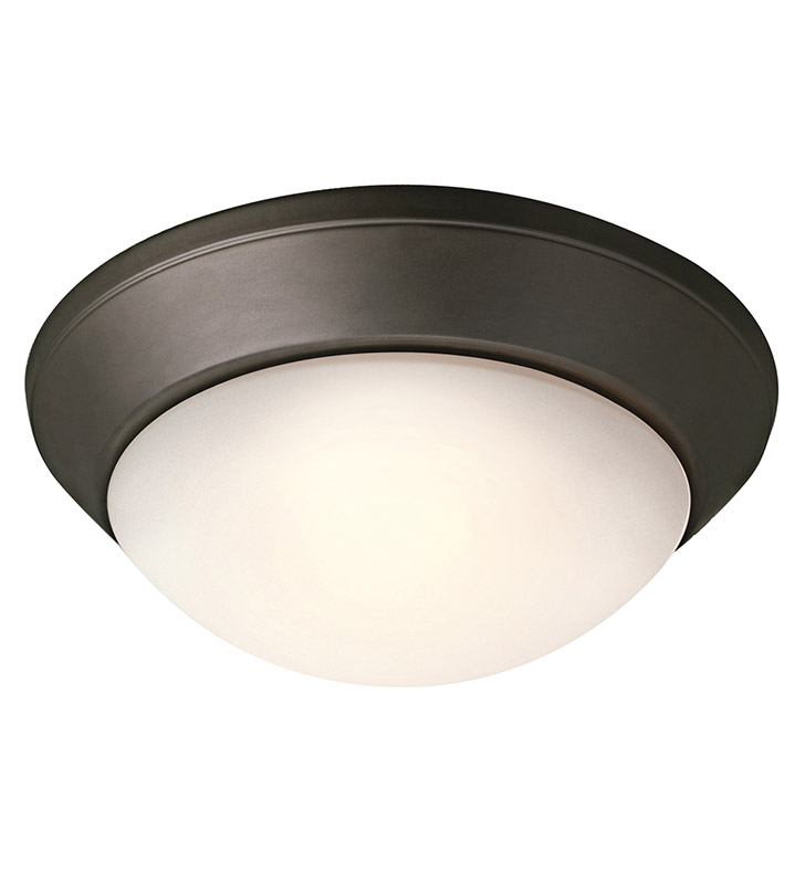 Kichler 8882OZ Ceiling Space Collection Flush Mount 2 Light in Olde Bronze