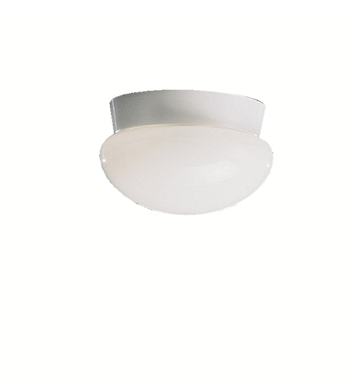 Kichler 8101WH Ceiling Space Collection Flush Mount 1 Light in White
