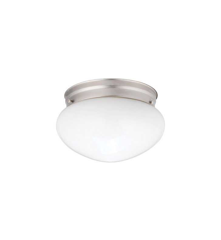 Kichler 206NI Ceiling Space Collection 1-Bulb Flush Mount Light in Brushed Nickel - Sold as a package of 12
