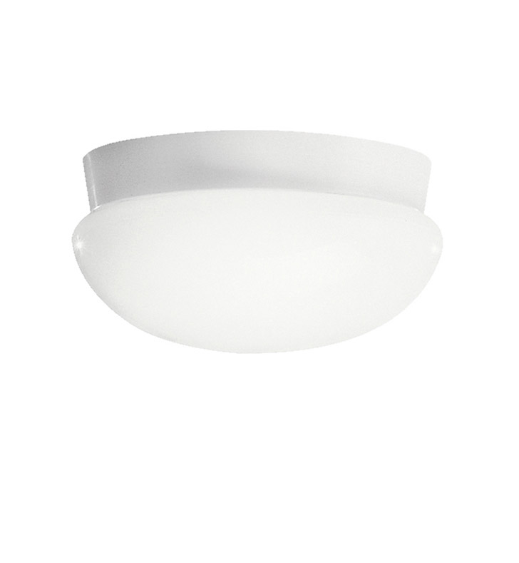 Kichler 8103WHFL Ceiling Space Collection Flush Mount 3 Light Fluorescent in White