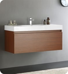 "Fresca FCB8011TK-I Mezzo 48"" Teak Modern Bathroom Vanity with Integrated Sink"