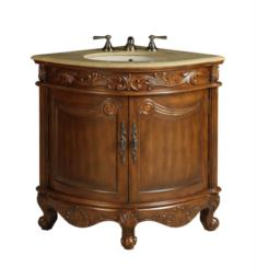 "Chans Furniture BC-030M Benton Bayview 24"" Freestanding Classic Style Corner Single Bathroom Vanity in Brown"
