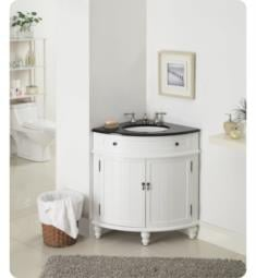 "Chans Furniture GD-47533GT Benton Thomasville 24"" Freestanding Corner Single Bathroom Vanity in White"