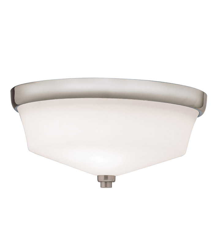 Kichler 8044NI Flush Mount 2 Light in Brushed Nickel
