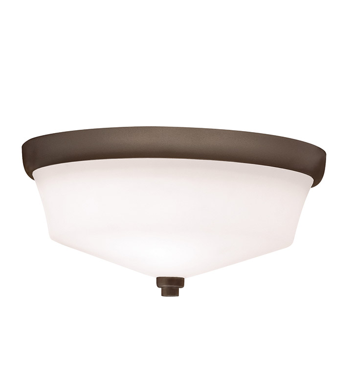 Kichler 8044OZ Flush Mount 2 Light in Olde Bronze
