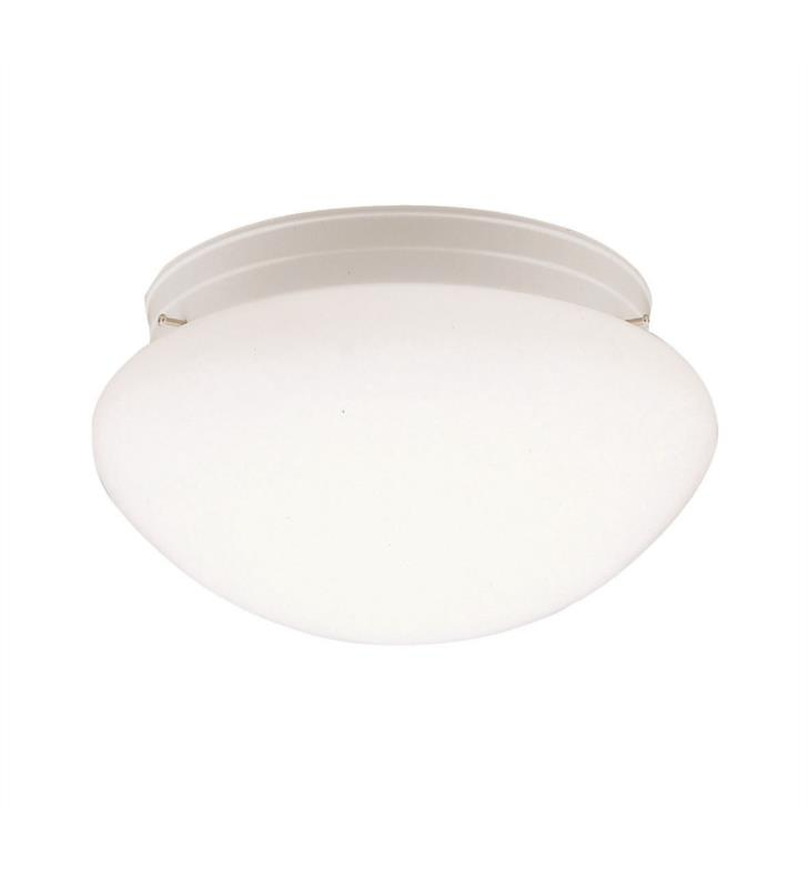 Kichler 210WH Ceiling Space 2 Light Incandescent Flush Mount Ceiling Light in White
