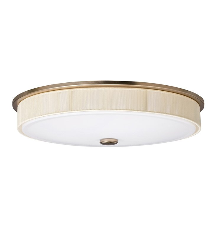 Kichler 10885CP Santiago Collection Flush Mount 2 Light Fluorescent in Champagne