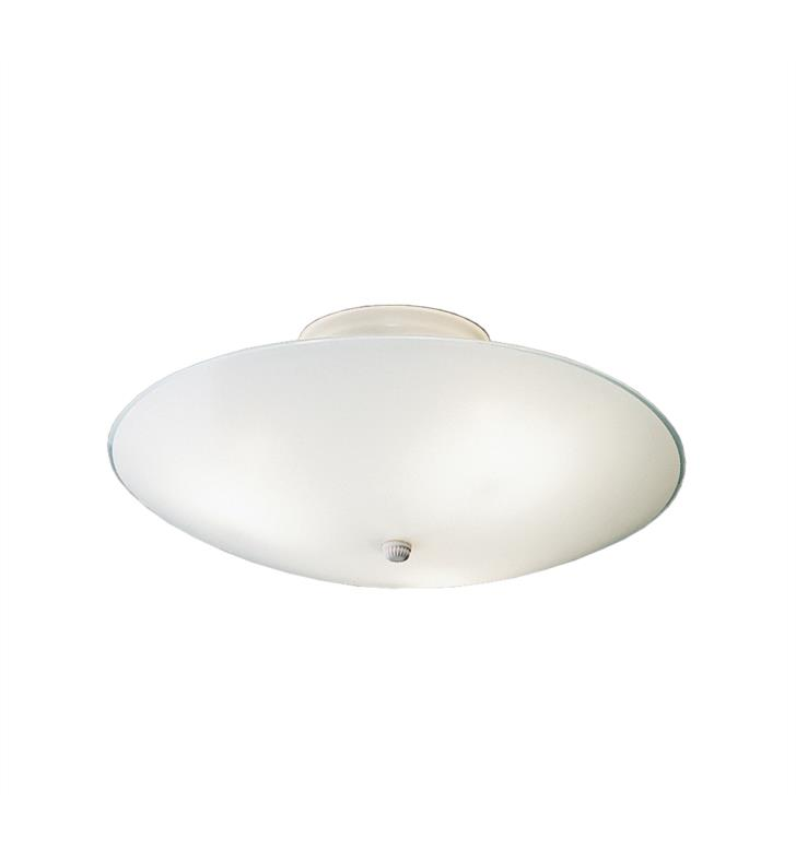 Kichler 7350WH Ceiling Space 3 Light Incandescent Flush Mount Ceiling Light in White