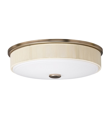 Kichler 10886CP Santiago Collection Flush Mount 3 Light Fluorescent in Champagne