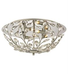 "Elk Lighting 45261-4 Crystique 4 Light 17"" Incandescent Clear Crystal Flush Mount Ceiling Light in Polished Chrome"
