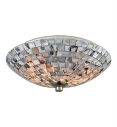 "Elk Lighting 10401-2 Cappa Shells 2 Light 12"" Incandescent Gray Capiz Shells Flushmount Light with Hardware in Satin Nickel"