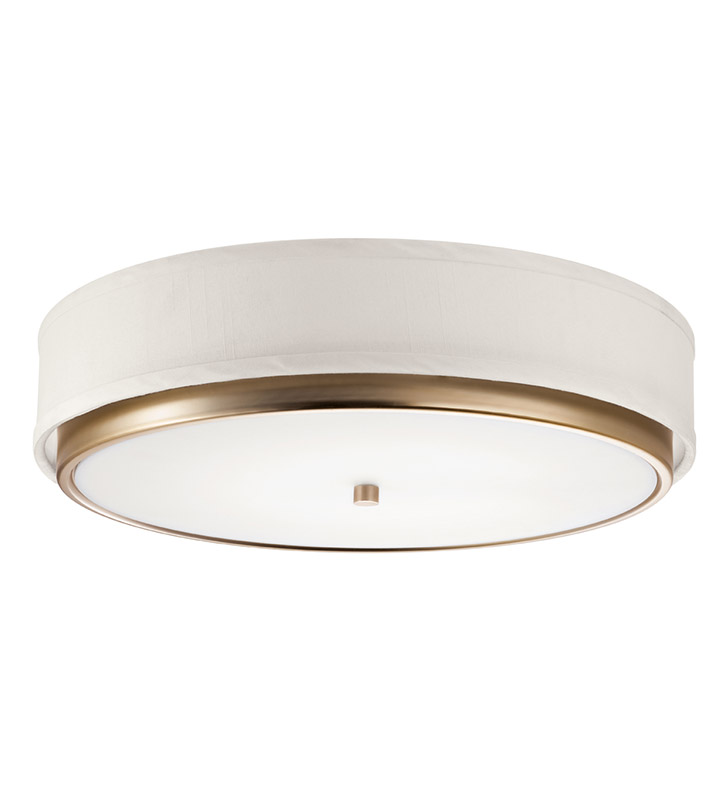 Kichler 10807CP Flush Mount 1 Light Fluorescent in Champagne