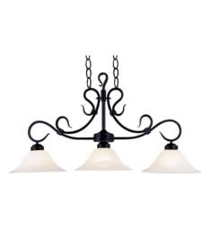 "Elk Lighting 247-BK Buckingham 3 Light 40"" Incandescent Ceiling Mount Island Light in Matte Black"