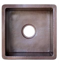 "Native Trails CPS34 Cantina 15"" Single Bowl Undermount Square Hand Hammered Copper Bar and Prep Sink"