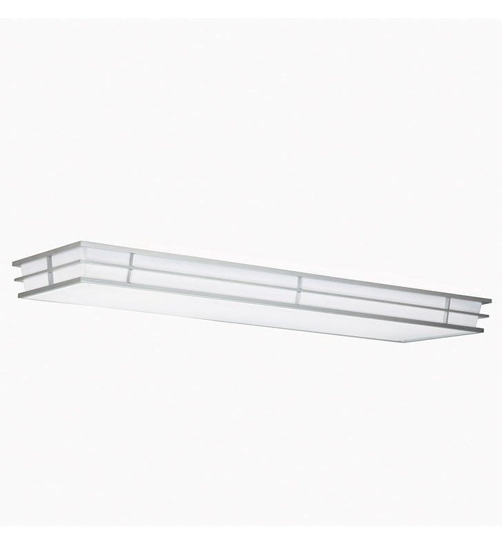 Kichler 10802SI Pavilion Collection Linear Ceiling Mount 4 Light Fluor in Silver Various