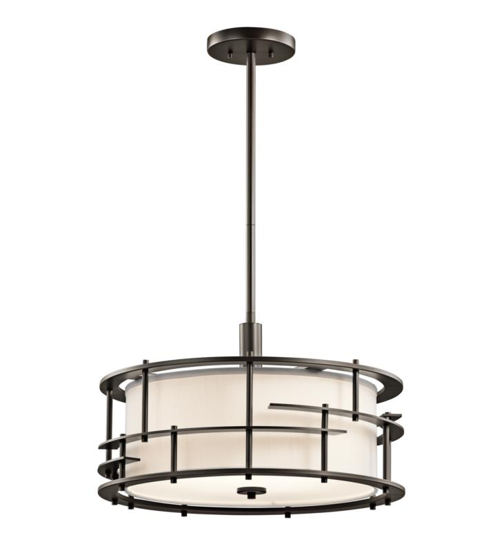 Kichler 43373OZ Tremba 4 Light Incandescent Semi-Flush Mini Pendant in Olde Bronze