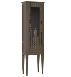 Fresca Platinum Diamond Taupe Gloss Side Cabinet with Right Hand Opening