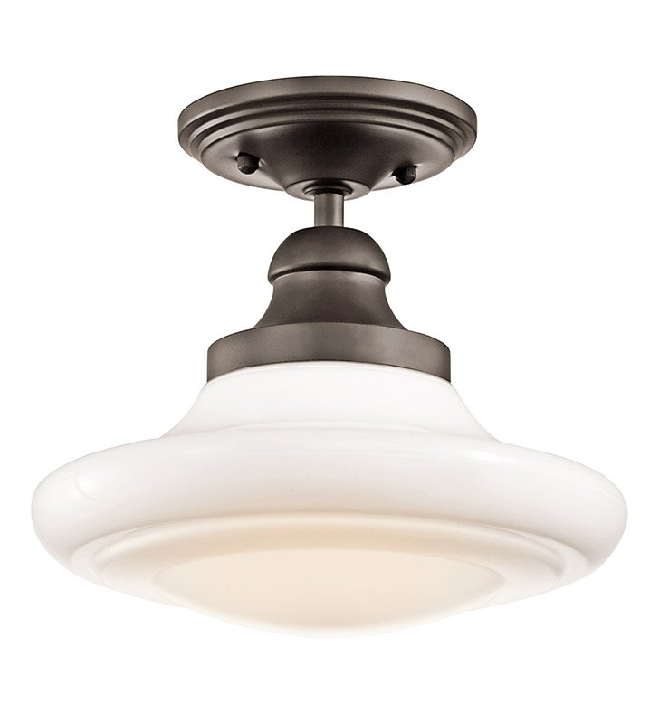 Kichler 42269OZ Semi Flush-Pendant 1 Light in Olde Bronze