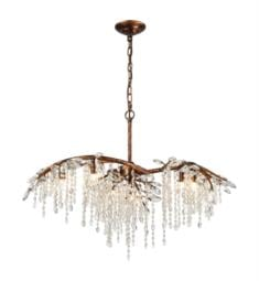 "Elk Lighting 11901-6 Elia 6 Light 32"" Halogen Chandelier Light in Spanish Bronze"