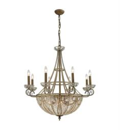 "Elk Lighting 15968-8-6 Elizabethan 14 Light 35"" Incandescent Chandelier Light in Dark Bronze"