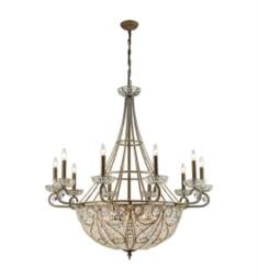 "Elk Lighting 15969-10-8 Elizabethan 18 Light 44"" Incandescent Chandelier Light in Dark Bronze"