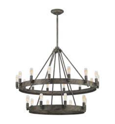 "Elk Lighting 31823-8-14 Lewisburg 22 Light 32"" Incandescent Chandelier Light in Malted Rust"