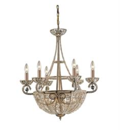 "Elk Lighting 5967-6-4 Elizabethan 10 Light 26"" Incandescent Chandelier Light in Dark Bronze"