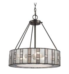 "Elk Lighting 70212-3 Ethan 3 Light 18"" Incandescent Chandelier Light in Tiffany Bronze"